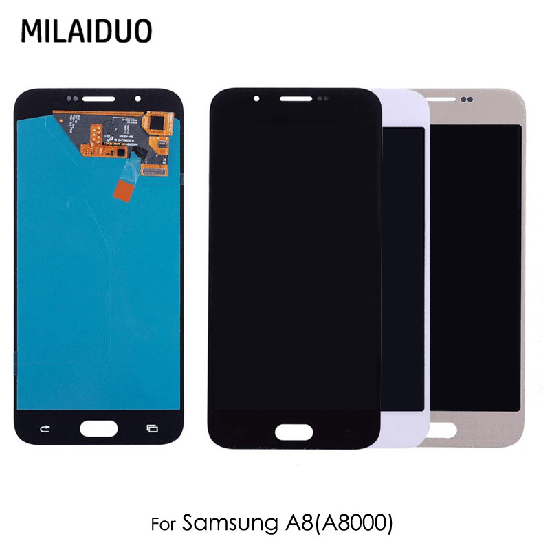 AMOLED/TFT LCD For Samsung Galaxy A8 2015 A800 A8000 A800F LCD Display Touch Screen Digitizer OLED