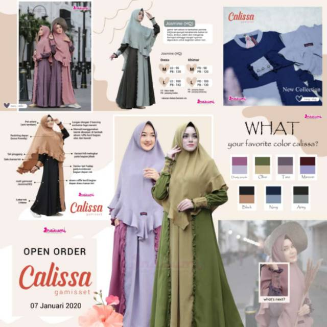 Calissa By Nazumi gamis   Shopee Indonesia