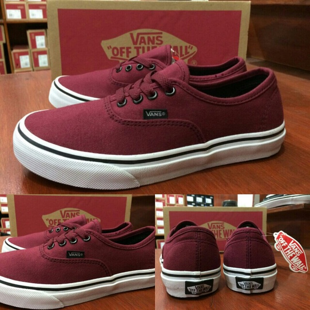 100% PREMIUM BNIB Sepatu Vans Old Skool Mono Vintage Port Royale Red Maroon  Merah Marun Putih  bd2adb3de3