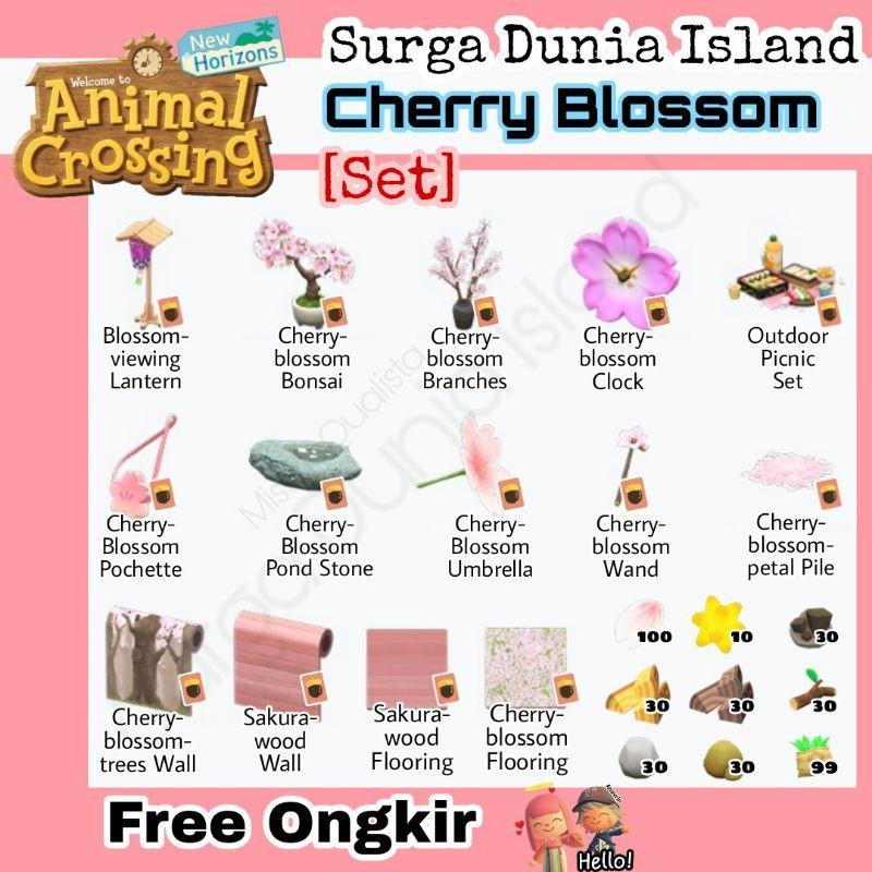Set Cherry Blossom Diy Animal Crossing Acnh Bells Nmt Shopee Indonesia