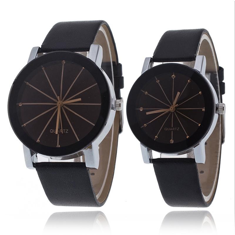 Jam Tangan Pria  Quartz Model Militer Tali Bahan Kulit Dengan Material Baja  Tahan Karat  0871057f4b