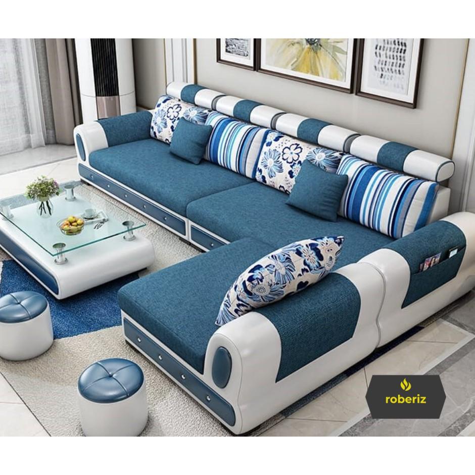 L12 Sofa Minimalis Modern Ruang Tamu Shopee Indonesia Sofa ruang tamu kecil