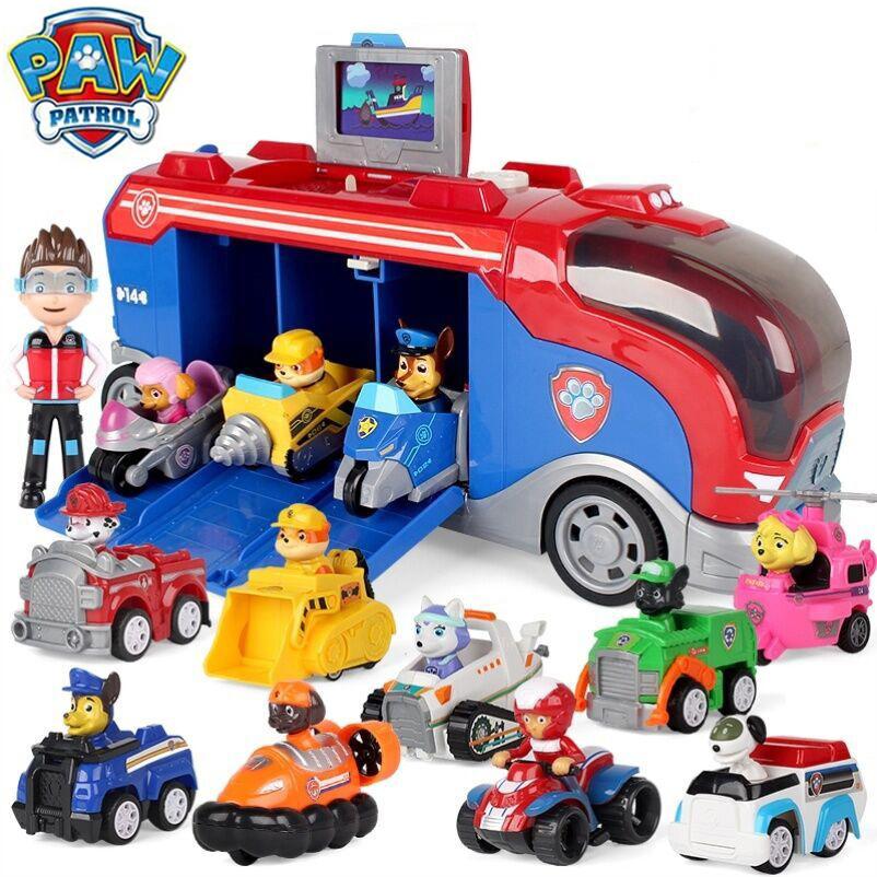 mainan edukasi mobil bis patroli paw patrol untuk hadiah