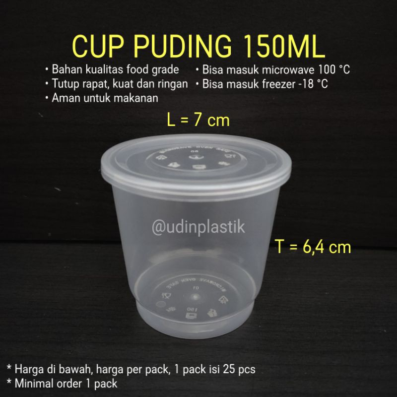 Cup Puding 150ml / OTG 150ML / Food Container / Thinwall 150ml / Cup 150ml