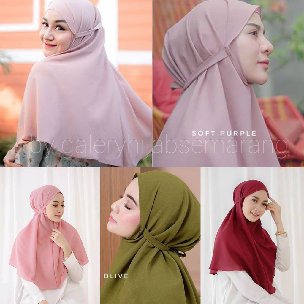 Hijab Bergo Maryam Diamond 1 Kg Muat 12pc Uk 70x80 Shopee Indonesia