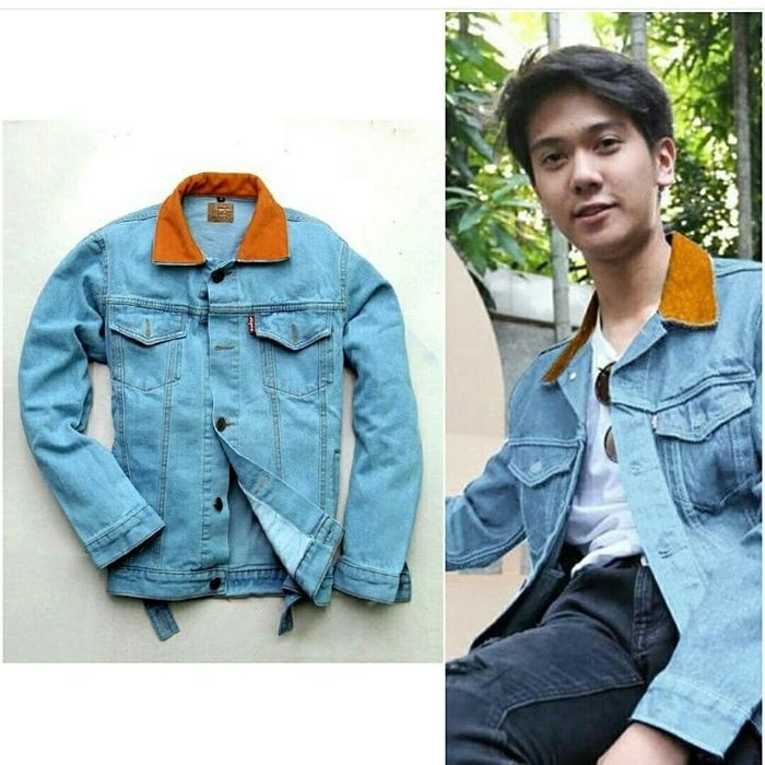 Jaket dilan / jaket jeans pria / jaket denim / jaket classic / dylan/jeans belel | Shopee Indonesia