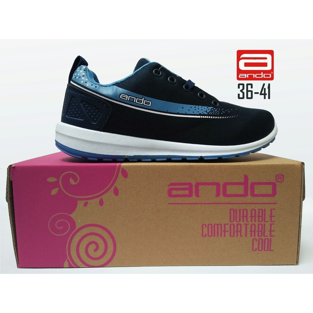 SEPATU CASUAL WANITA ANDO LINDSEY ABU SEPATU RUNNING, SEPATU OLAHRAGA   Shopee Indonesia
