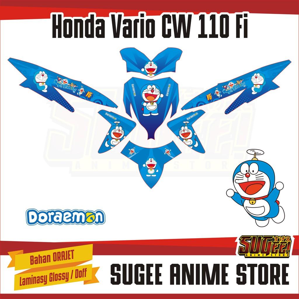 Sticker anime decal motor honda vario cw 110 doraemon shopee indonesia