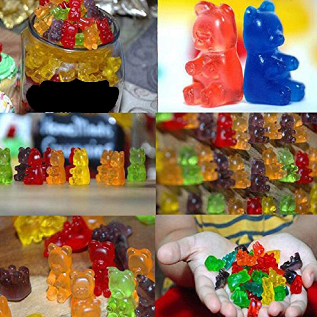 Gummy Bear Mold Gummy molds Silicone Mold Gummy Bear Shape Bear MouldCreative Chocolate Jelly Mold with Dropper Candy Mold Maker Pack of 4 with 4Droppers