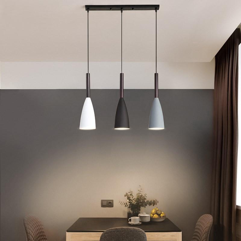 Nordic Modern 3 Liontin Lampu Atas Meja Makan Dapur U Gantung Ruang