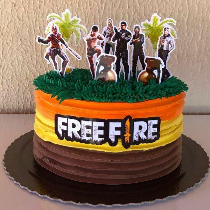 birthday cake free fire money cake//kue ultah isi uang