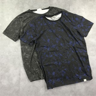 Pria musim panas kapas dicuci tua kotor lengan pendek T-shirt Kasual retro cetak