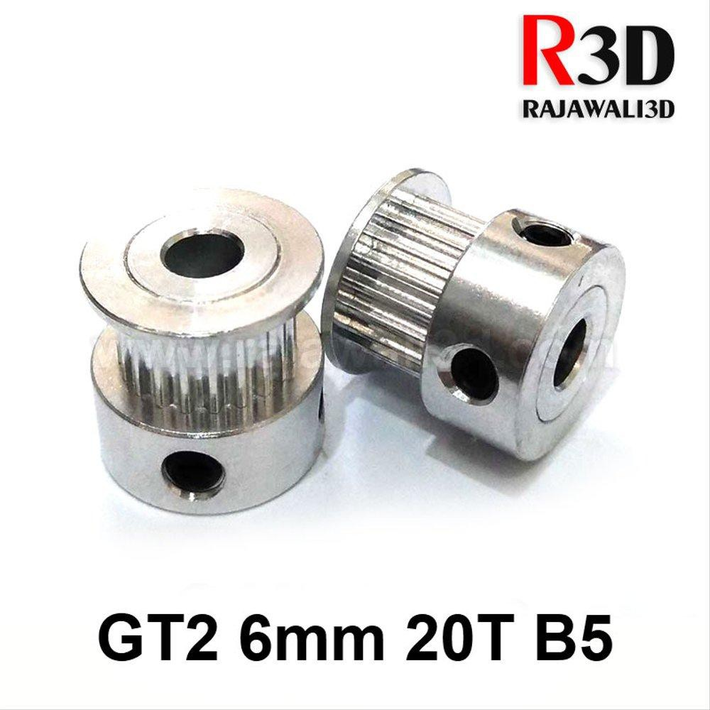 10PCS 2GT 20 Tooth 20T 8mm Bore Aluminum Timing Pulley NEW