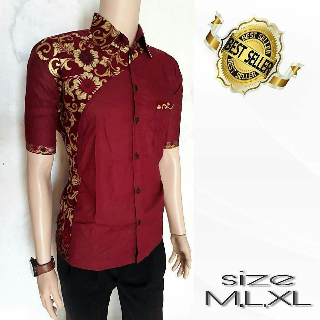 kemeja kombinasi - Temukan Harga dan Penawaran Batik Online Terbaik - Pakaian  Pria Januari 2019  4d0846e06e