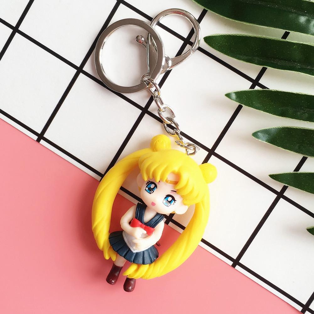 Gantungan Kunci Bentuk Kartun Sailor Moon Jepang Lucu