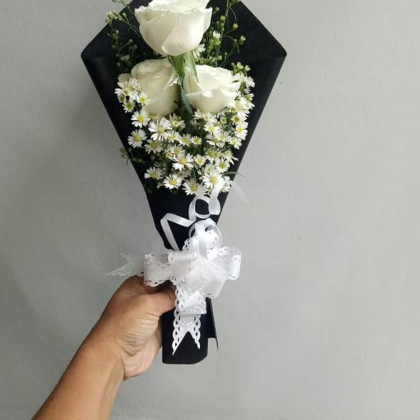 ◊ Hand bouquet bunga mawar asli bucket wisuda buket bunga ❂