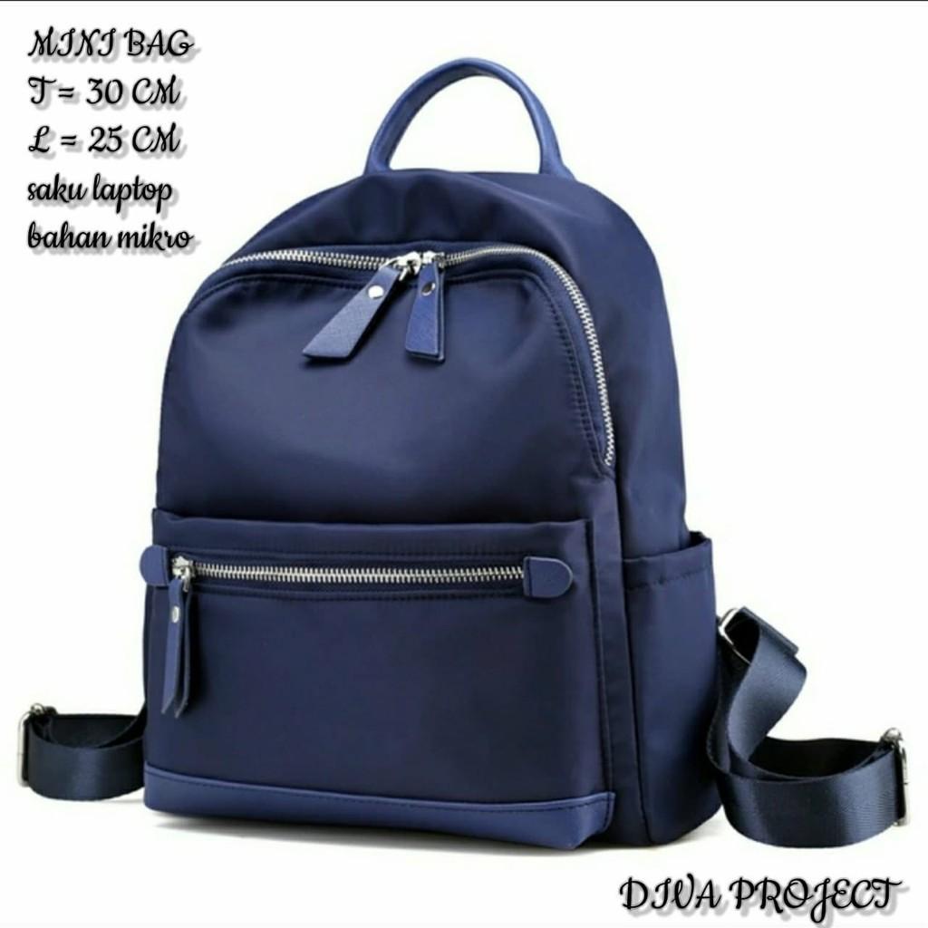 Ransel 1306 Bahan Micro Nylon Kanvas Shopee Indonesia Backpack Kait Set 3in1