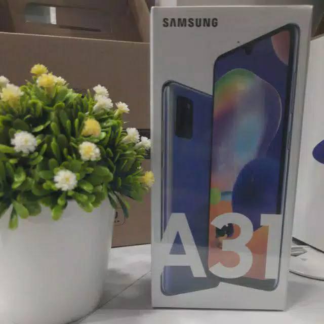 Hp Samsung A31 biru Ram 8 Rom 128 Garansi Resmi Samsung Sein 1 tahun 5000 Mh