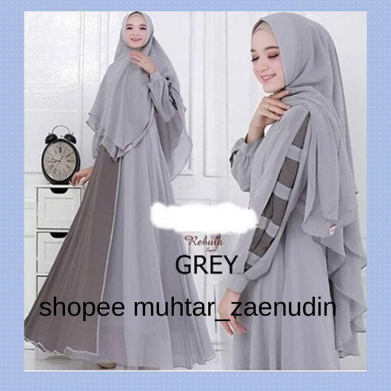 Model Busana Muslim Wanita Dress Gamis Gamis Bahan Ceruti Full Furing Rebula Syari Gamis Busui Shopee Indonesia