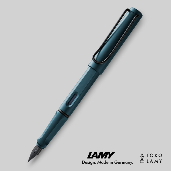 Lamy Safari Petrol Blue Fountain Pen Fine F 2017 Special Edition