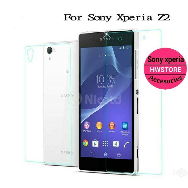 Tempered glass front back depan belakang Sony Xperia z3 compact mini   Shopee Indonesia