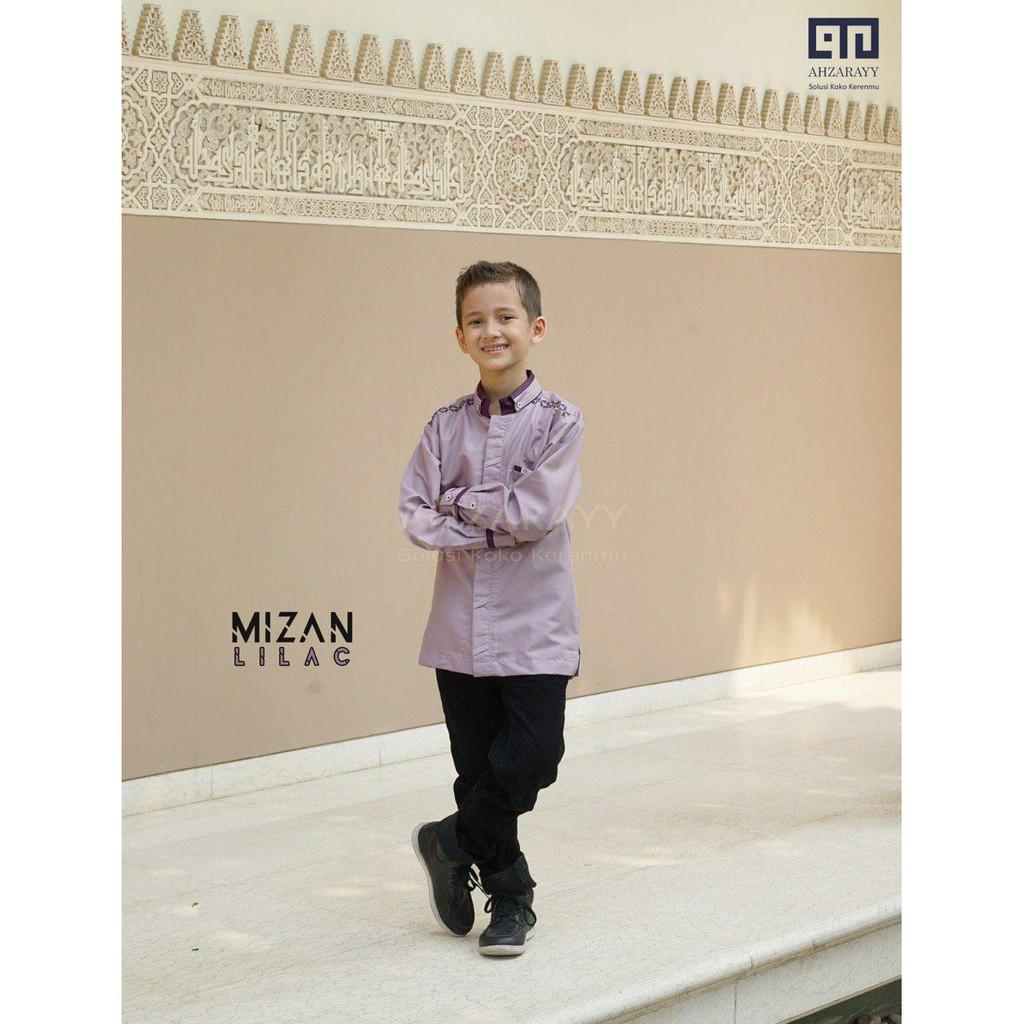 Baju Koko Baby dan Kids Mizan Series Warna Lilac Original by Ahzarayy
