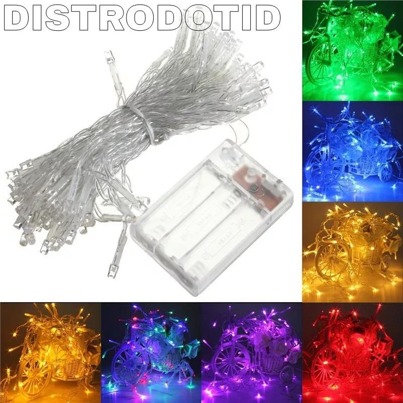 Lampu Tumblr Natal Led model baterai A2 tanpa colokan