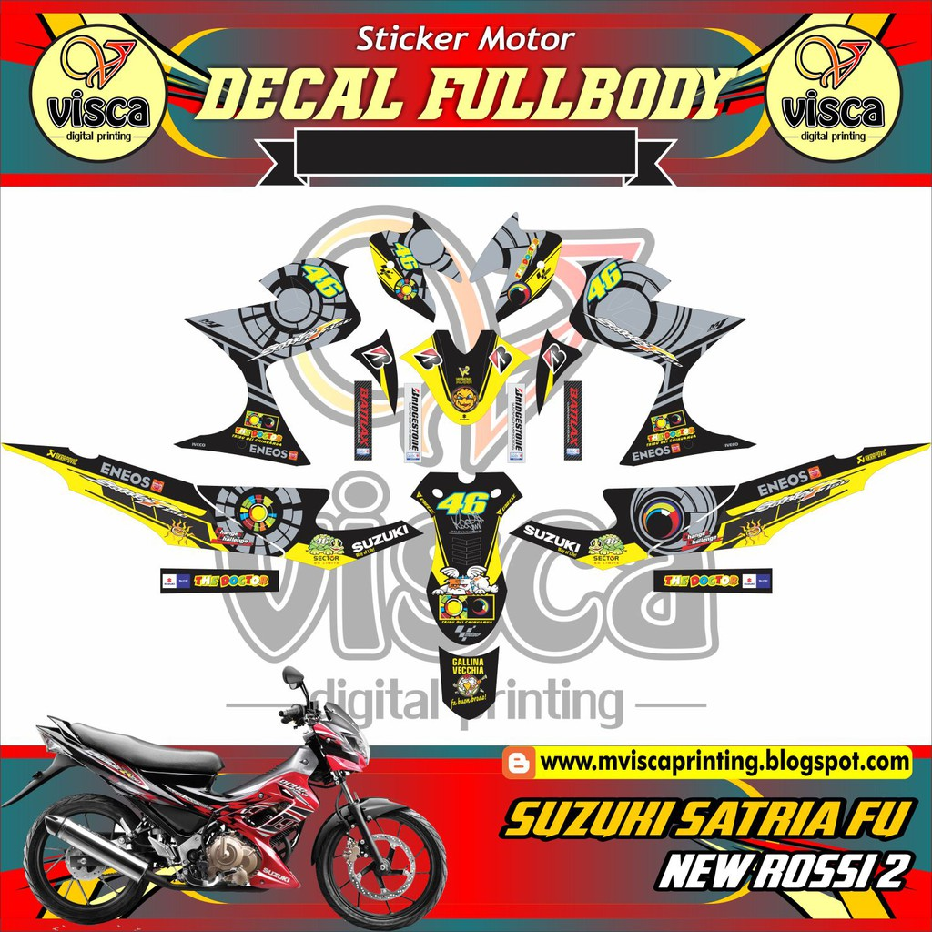 DECAL STICKER MOTOR SUZUKI SATRIA FU NEW ROSSI 2