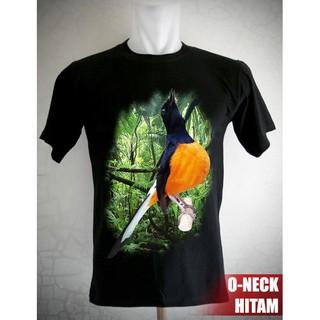 Kaos Burung Murai Batu Borneo Shopee Indonesia