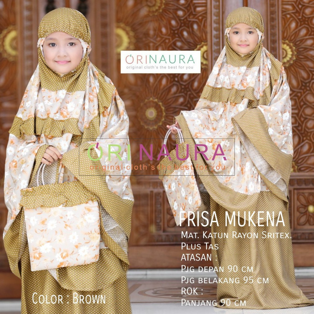 Mukena Annur Kids Rukuh Katun Rayon Anak Couple White Polos Original Tatuis Tiara 322 Brown By Ori Naura Shopee Indonesia