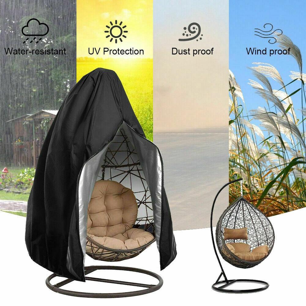Sarung Pelindung Kursi Ayunan Dengan Model Gantung Dan Resleting Bahan Tahan Air Untuk Outdoor Shopee Indonesia