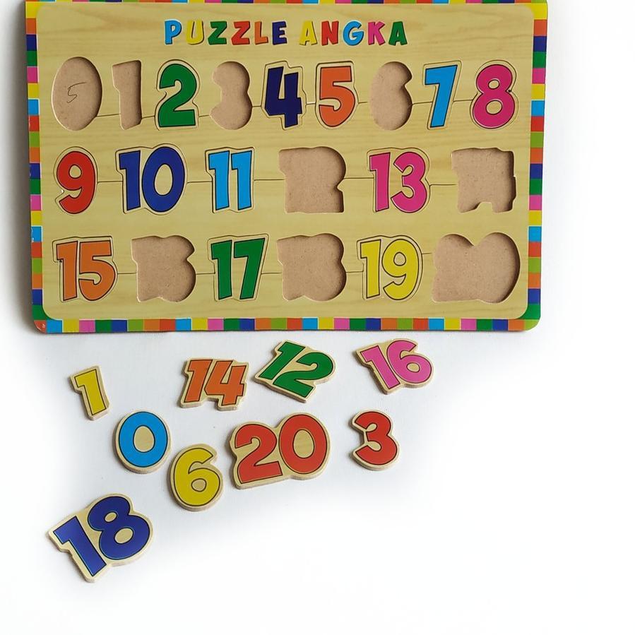 Diskon Besar2an Paket Puzzle Kayu Special Edition Isi 3 Huruf Hijaiyah Huruf Besar Angka 0