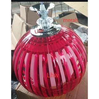 lampu hias minimalis bulat arylic warna warni dekorasi