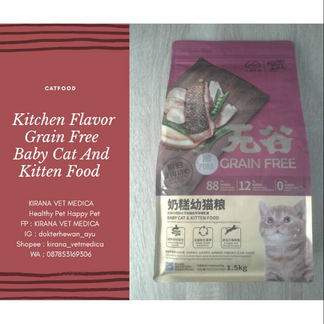 Makanan Kucing Kitchen Flavor Grain Free Beauty Cat For All Life 1,5kg   Shopee