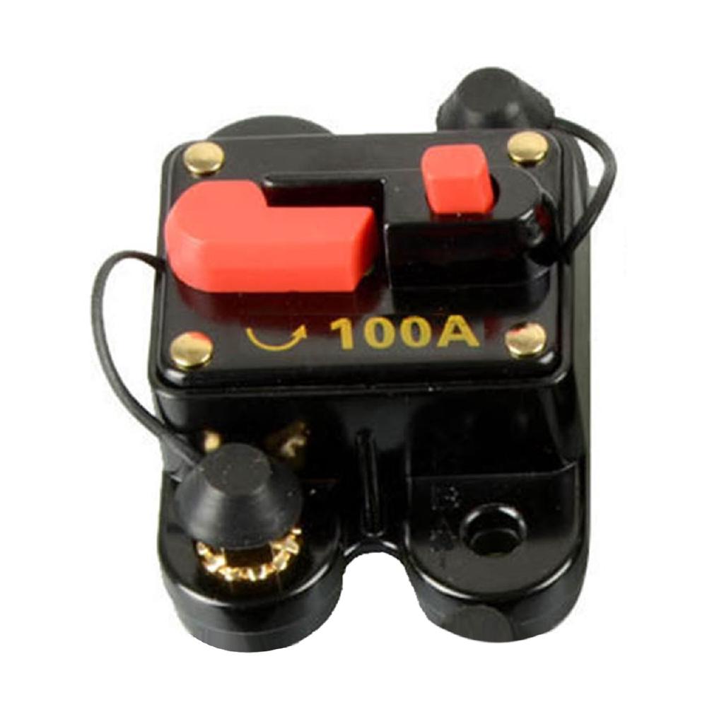 Manual Reset DC Circuit Breaker Car Auto  Stereo Audio Inline Fuse Inverter 300A