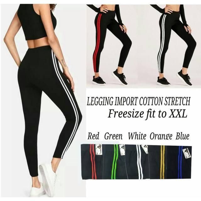 Premium Celana Legging Import Warna List 2 Shopee Indonesia