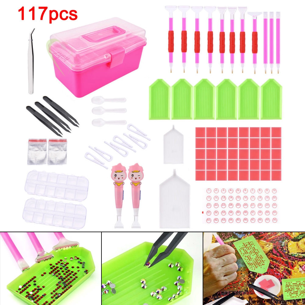 117pcs//set Diamond Painting Kit Diamond Drawing Tool DIY Crafts Accessories