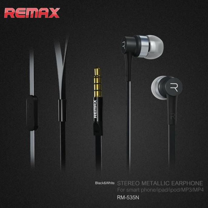 Remax RM 610D Android / iOS Headphone Stereo Bass Handsfree | Shopee Indonesia