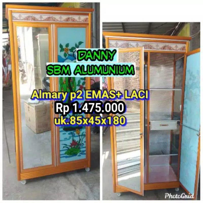 Lemari Alumunium Kaca Pintu 2 Laci Khusus Kirim Semarang Shopee Indonesia