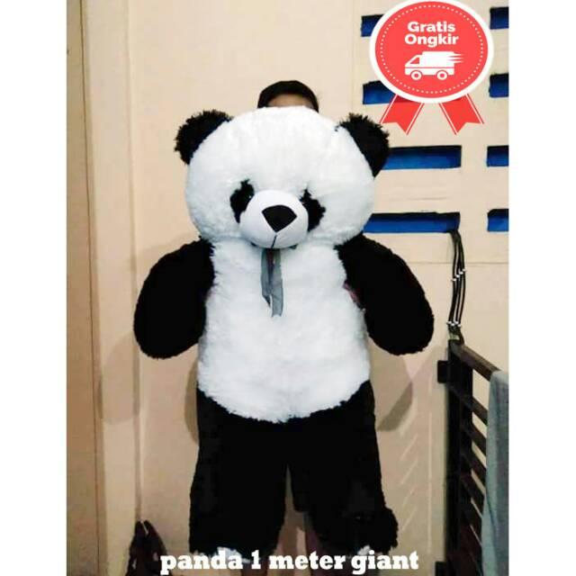 Boneka Panda Jumbo Besar 1 Meter Shopee Indonesia