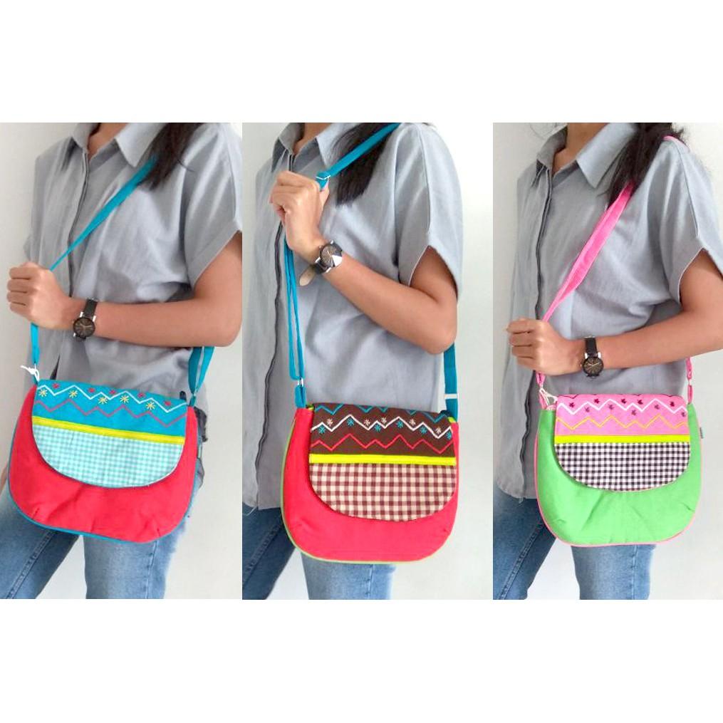 Tas Selempang Murah Maika Etnik Small Bag NUPI & Sb Hangout Tas Wanita Branded   Shopee Indonesia