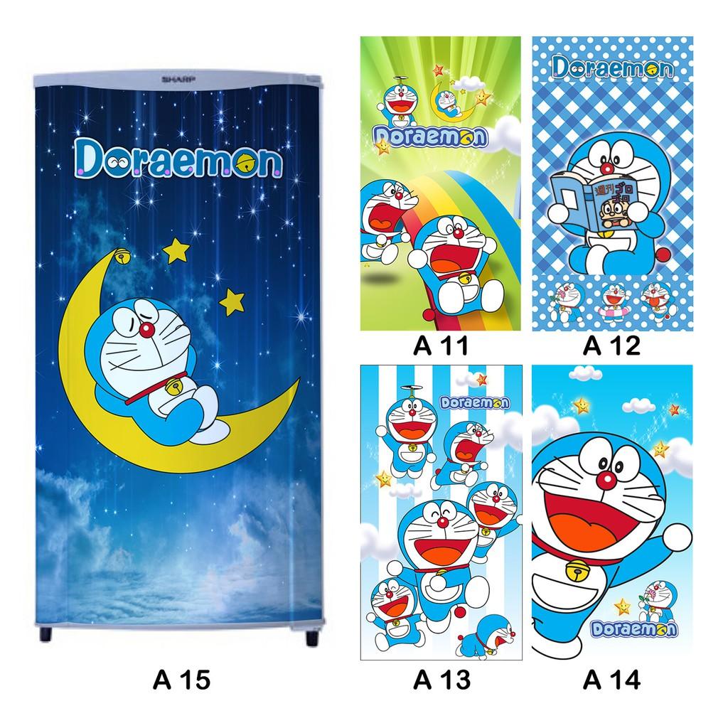 Stiker Kulkas  Pintu Motif Doraemon Lucu Termurah Se Indonesia