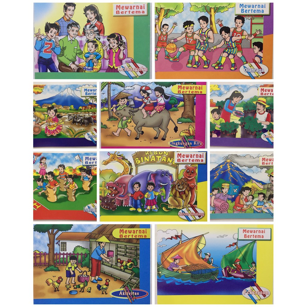Buku Mewarnai Aku Anak Indonesia