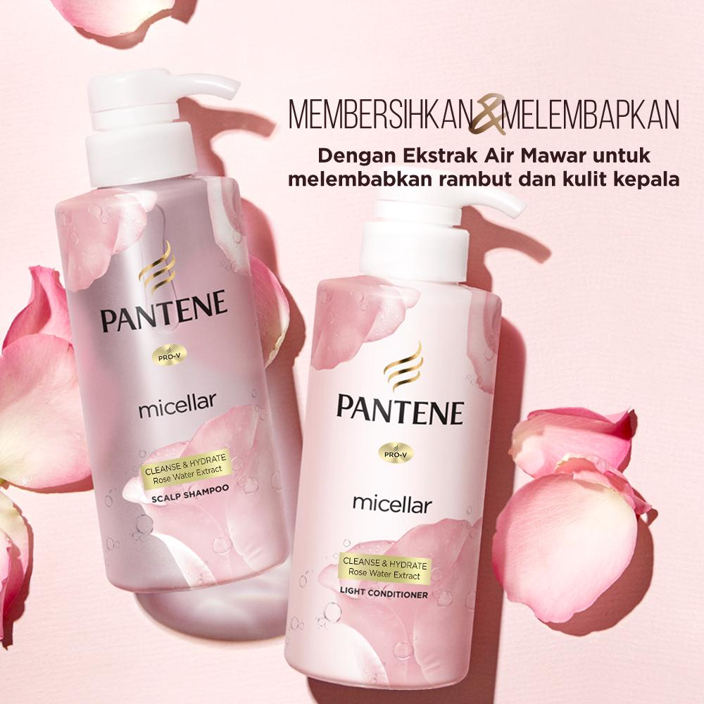 Pantene Micellar Cleanse and Hydrate - Paket Shampoo 300 ml + Conditioner 300 ml-5
