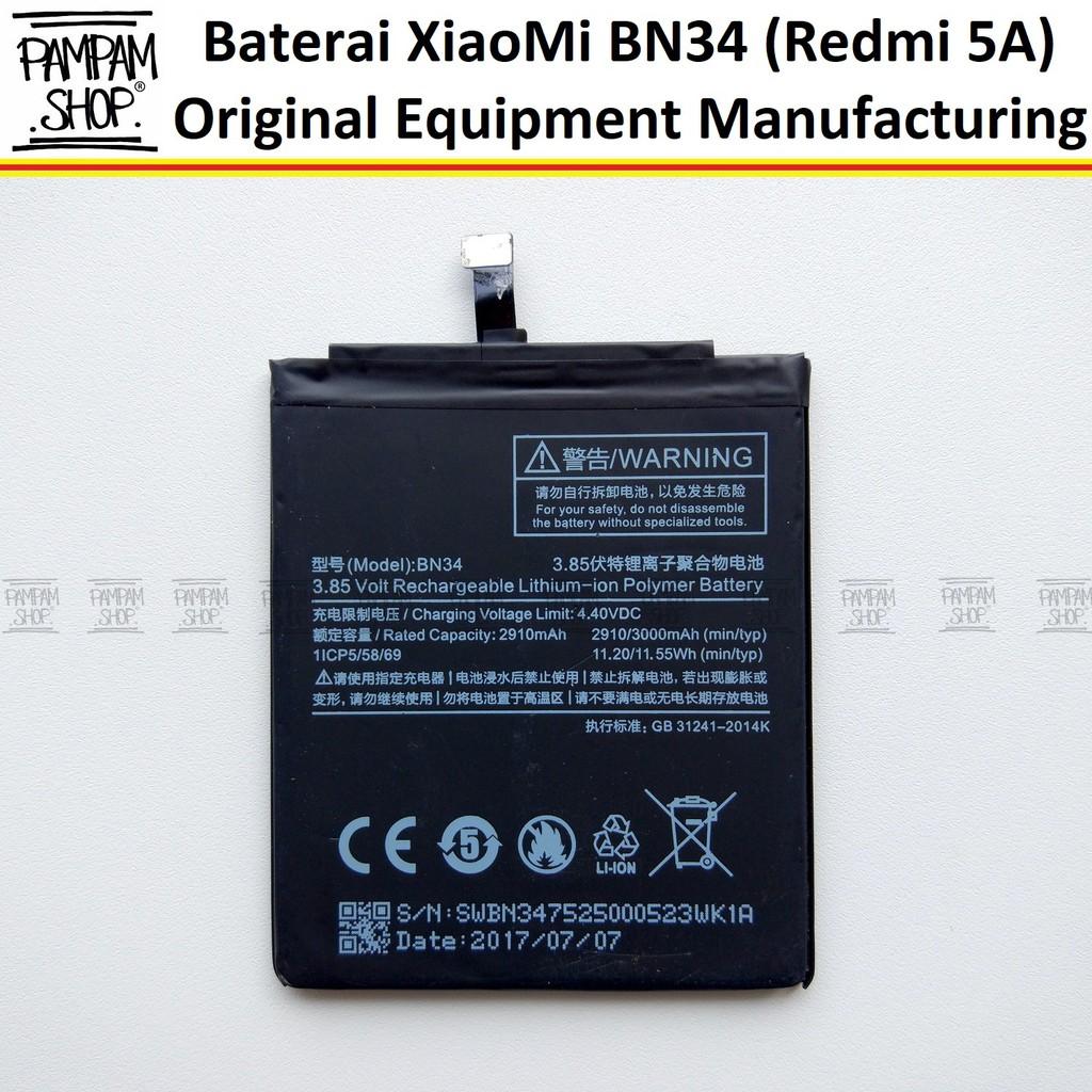Baterai Handphone XiaoMi Redmi Note 4 4X BN43 Original OEM BN 43 Xiao Mi Batre Batrai Battery HP | Shopee Indonesia