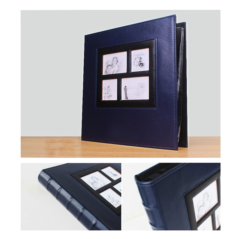 Photo Album Holds 4x6 400 Photos Pages Large Capacity Leather Cover Binder Wedding Family Baby Photo Albums Book Blue Shopee Indonesia