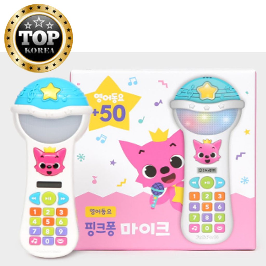PINKFONG Baby Shark Pop Up Toy Smart Phone With Kids Songs /& Picture Lyrics