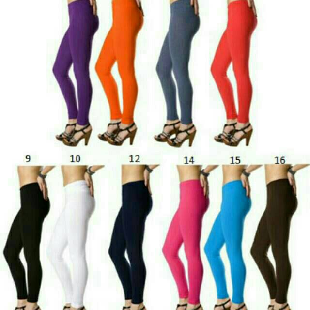 Celana Legging Legging Murah Legging Polos Dewasa Celana Legging All Size Shopee Indonesia