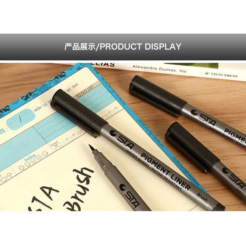 4Pcs Calligraphy Marker Marker Pen Writing Brush Soft Brush Fineliner With Ink