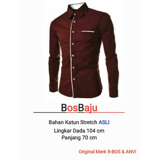 BosBaju - MIster Khakis Kemeja kantor pria polos lengan panjang (14 Warna)   Shopee Indonesia